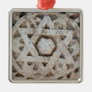 Old Star of David carving, Israel Metal Ornament