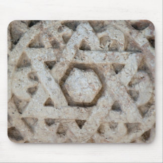 Old Star of David carving, Israel Mouse Pad