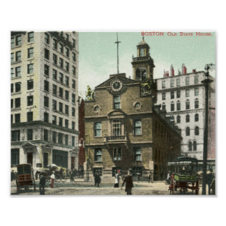 Old State House, Boston 1905 Vintage Poster