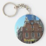 Old State House, Boston Basic Round Button Keychain