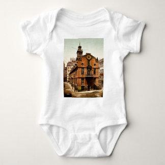 Old State House Boston Massachusetts Baby Bodysuit