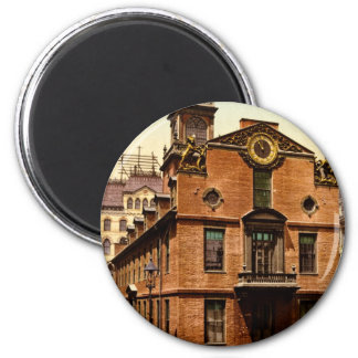 Old State House Boston Massachusetts 2 Inch Round Magnet