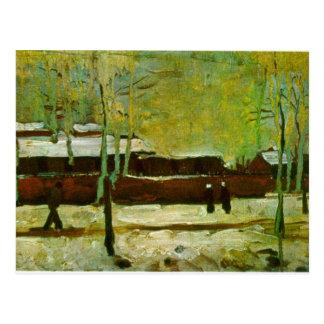 Old Station by Vincent van Gogh Postcard