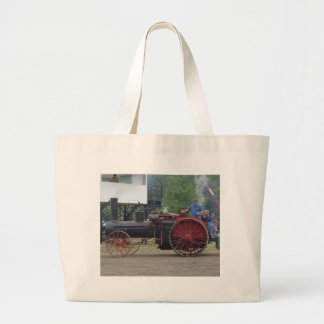 Old Steam/Coal Engine Tractor Large Tote Bag