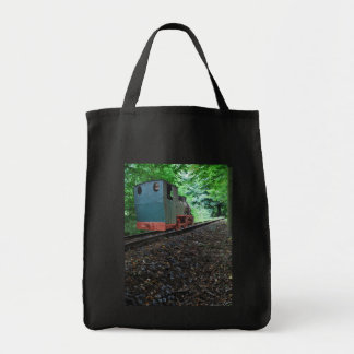 Old steam engine tote bag