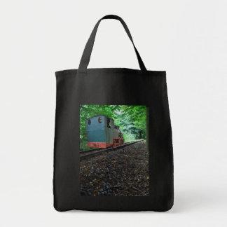 Old steam engine tote bag