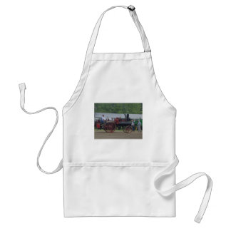 Old Steam Engine Tractor Adult Apron