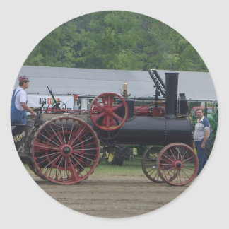 Old Steam Engine Tractor Classic Round Sticker