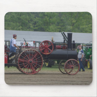 Old Steam Engine Tractor Mouse Pad
