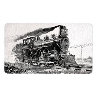 Old Steam Locomotive Business Card