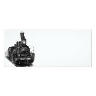 Old steam locomotive card