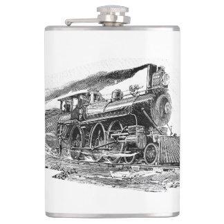 Old Steam Locomotive Flask