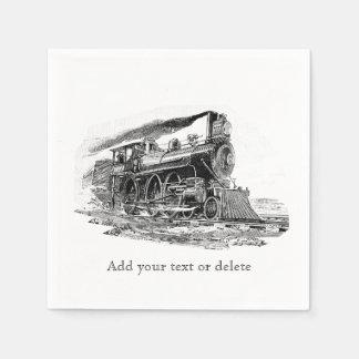 Old Steam Locomotive Napkin
