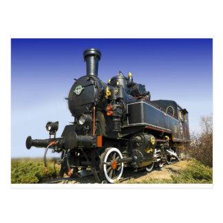 old steam locomotive postcard