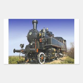 old steam locomotive rectangular sticker