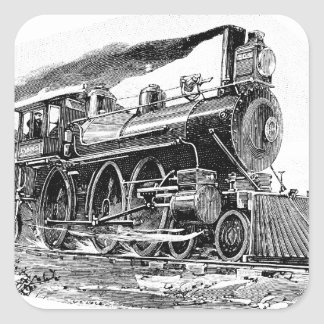 Old Steam Locomotive Stickers
