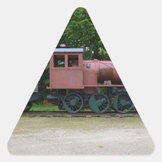 Old Steam Locomotive Triangle Sticker