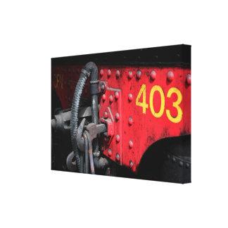 Old Steam Train Le Mastrou 403 Steam Engine Canvas