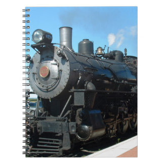 Old Steam Train One of a Kind Photo Shoot Spiral Notebook
