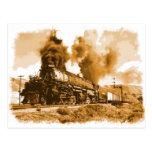 Old Steam Train Postcard