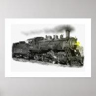 Old Steam Train Print
