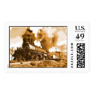 Old Steam Train Stamp