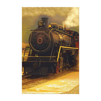 Old Steamer Stretched Canvas Print