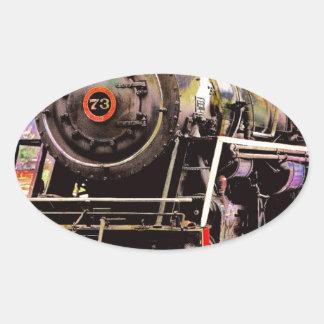 Old Steamer Oval Sticker