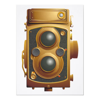 Old Steampunk Camera Card