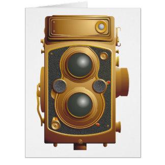 Old Steampunk Camera Card