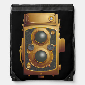 Old Steampunk Camera Drawstring Bag