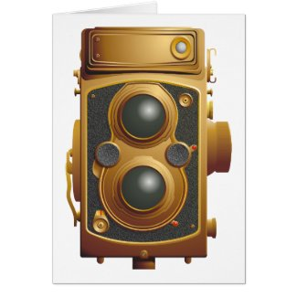 Old Steampunk Camera Greeting Card