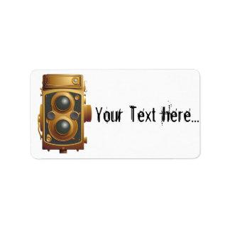 Old Steampunk Camera Address Label