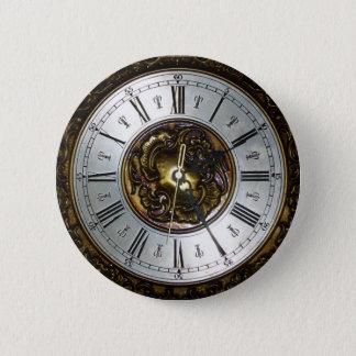 Old steampunk clock design accessoires, vintage button