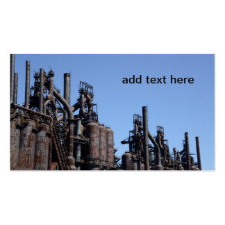 old steel factory Double-Sided standard business cards (Pack of 100)