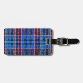OLD STEWART FAMILY TARTAN TAG FOR LUGGAGE