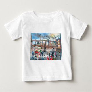 Old Stockport viaduct train oil painting Baby T-Shirt