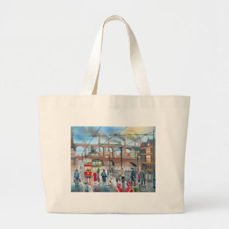 Old Stockport viaduct train oil painting Bag