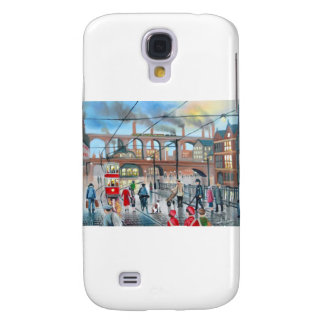 Old Stockport viaduct train oil painting Galaxy S4 Case