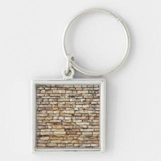Old Stone Brick Wall Texture Keychain