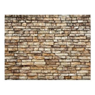 Old Stone Brick Wall Texture Postcard