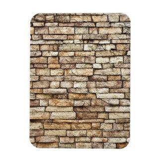 Old Stone Brick Wall Texture Rectangular Photo Magnet