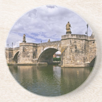 Old Stone Bridge in Germany Photograph Sandstone Coaster