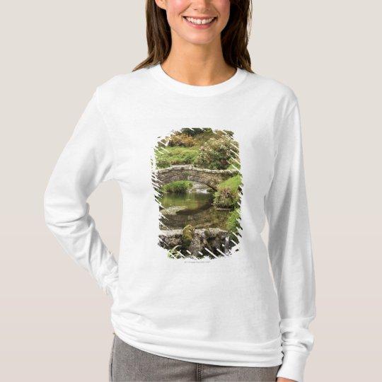 Old Stone Bridge Over A Stream In Dartmoor Park T-Shirt