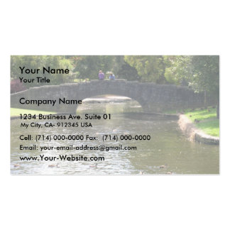 Old Stone Bridge With Water Flowing Gently By The Double-Sided Standard Business Cards (Pack Of 100)