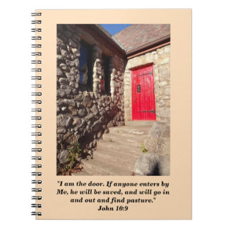 Old Stone Church With Red Door Prayer Journal