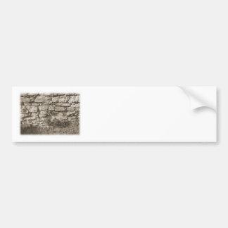 Old Stone Garden Wall. Sepia Color. Bumper Sticker
