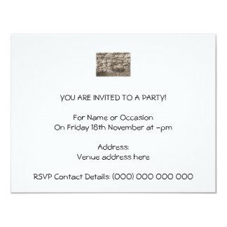 "Old Stone Garden Wall. Sepia Color. 4.25"" X 5.5"" Invitation Card"