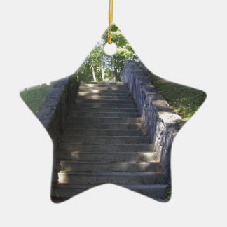 Old Stone Stairs Ceramic Ornament