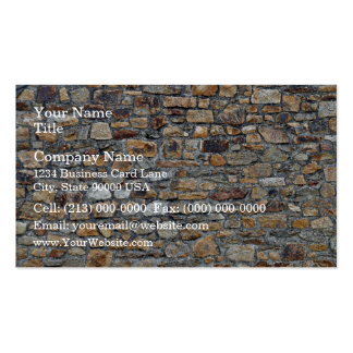 Old Stone Wall Background Business Cards